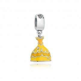 Sterling silver pendant Yellow dress