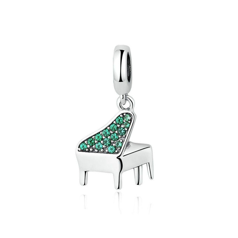 Sterling silver pendant Piano