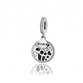 Sterling silver pendant charm Home