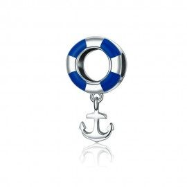 Sterling Silber Charm-Anhänger Navy Anker