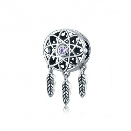 Sterling silver charm Dreamcatcher