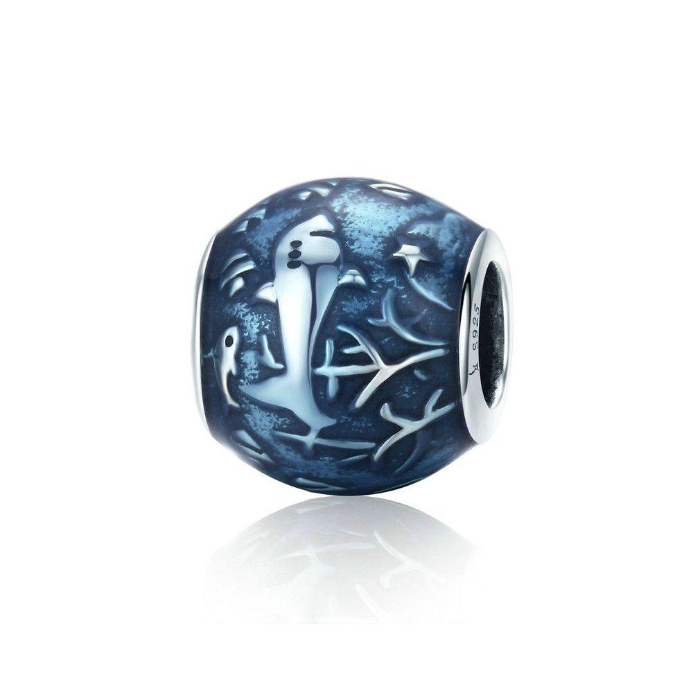 Sterling silver charm Underwater world