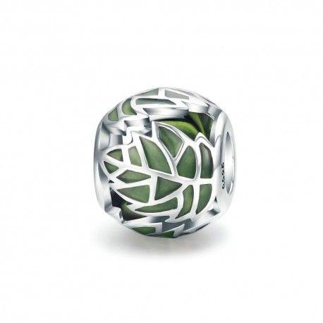 Zilveren bedel Levensboom bladeren