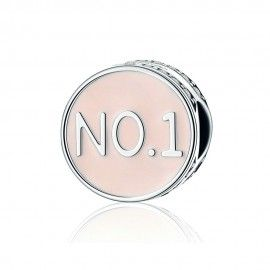 Sterling silver charm Number 1 confidence