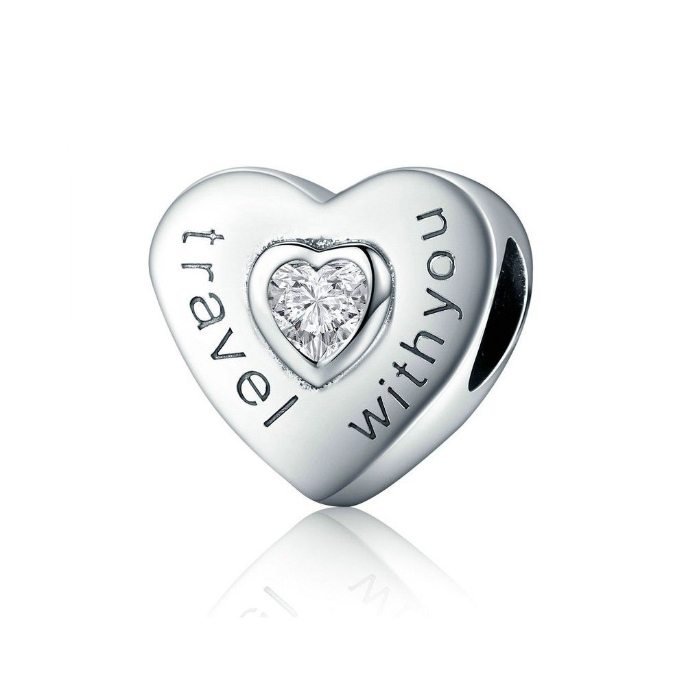 Sterling silver charm Travel with you