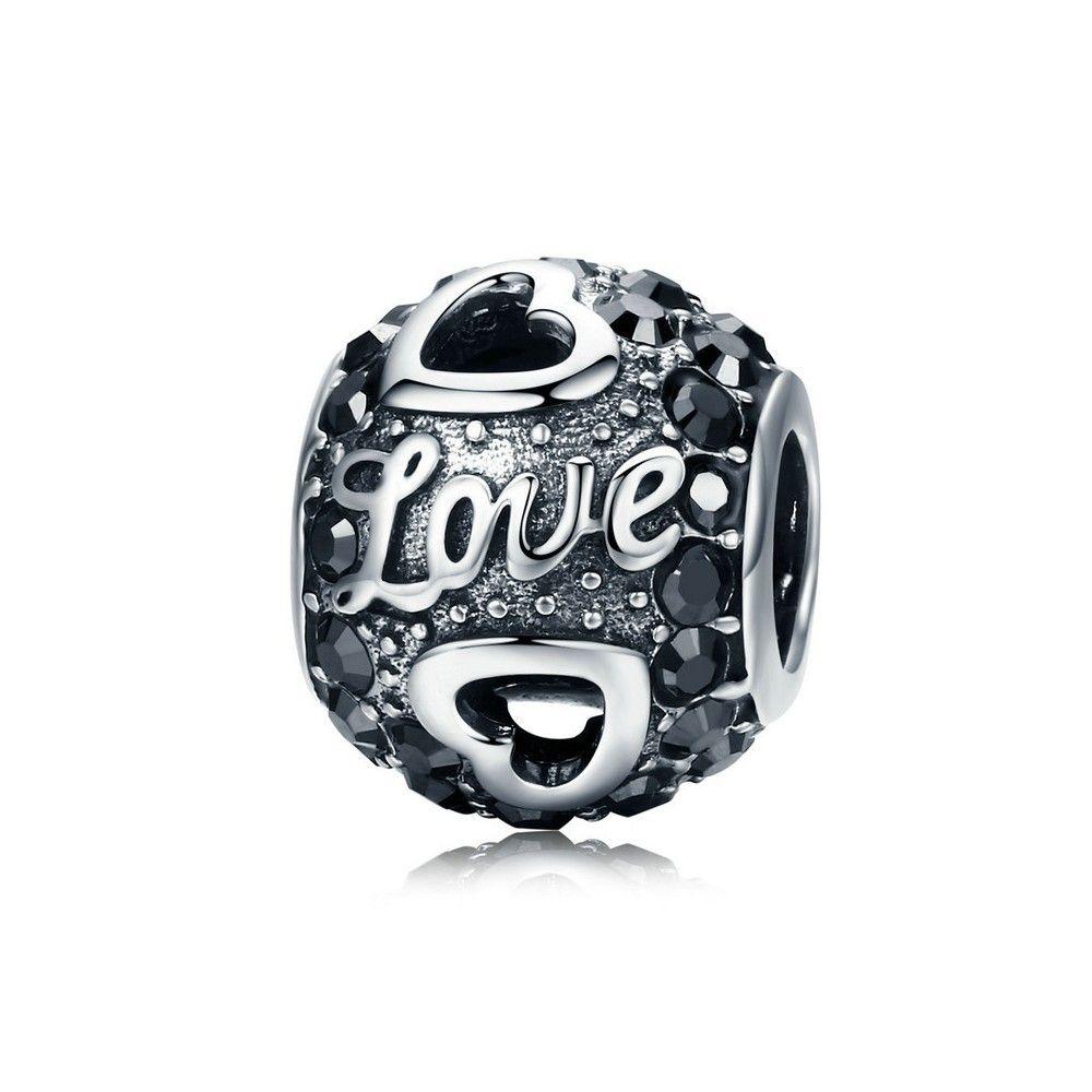 Zilveren bedel Antieke bal van de liefde