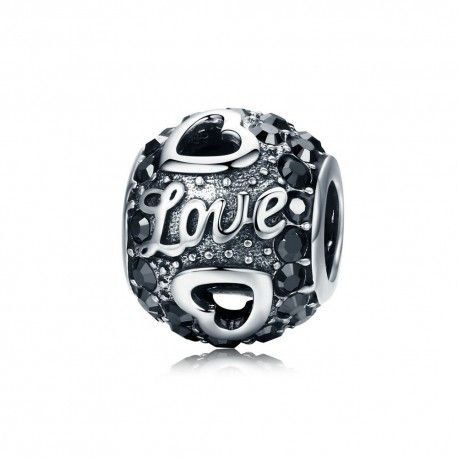 Sterling silver charm Antique ball of love