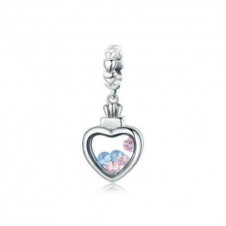 charms pandora cuore argento