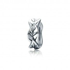 Sterling silver charm Leaves