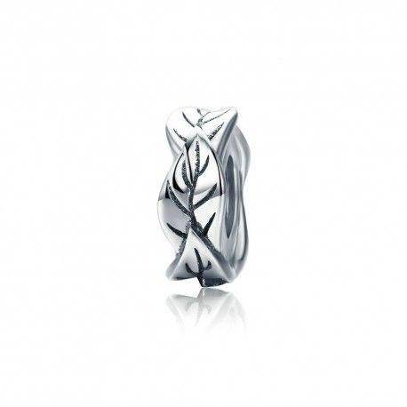 Zilveren bedel Bladeren