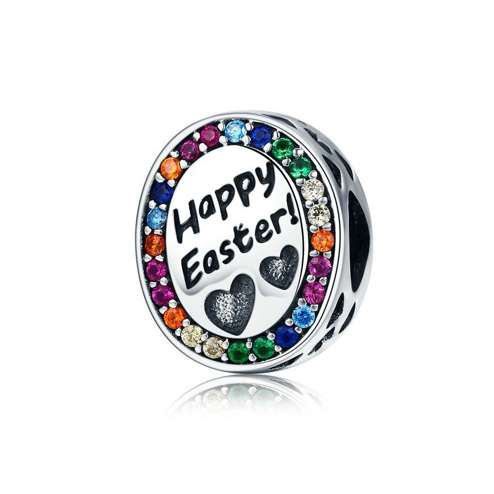 Sterling silver charm Happy Easter