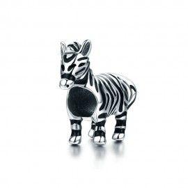 Zilveren bedel Zebra paard
