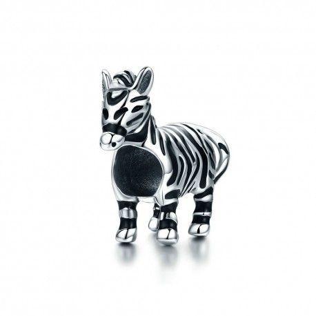 Sterling silver charm Zebra horse
