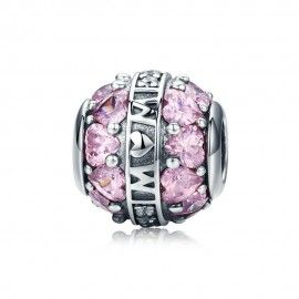 Sterling silver charm Show love to your mother