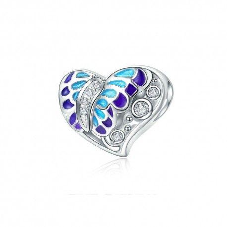 Zilveren bedel Fantasie vlinder