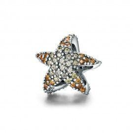 Charm in argento Stella marina oceanica