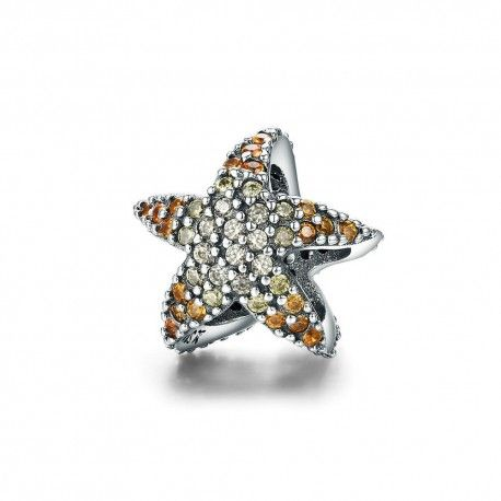 Sterling silver charm Ocean starfish