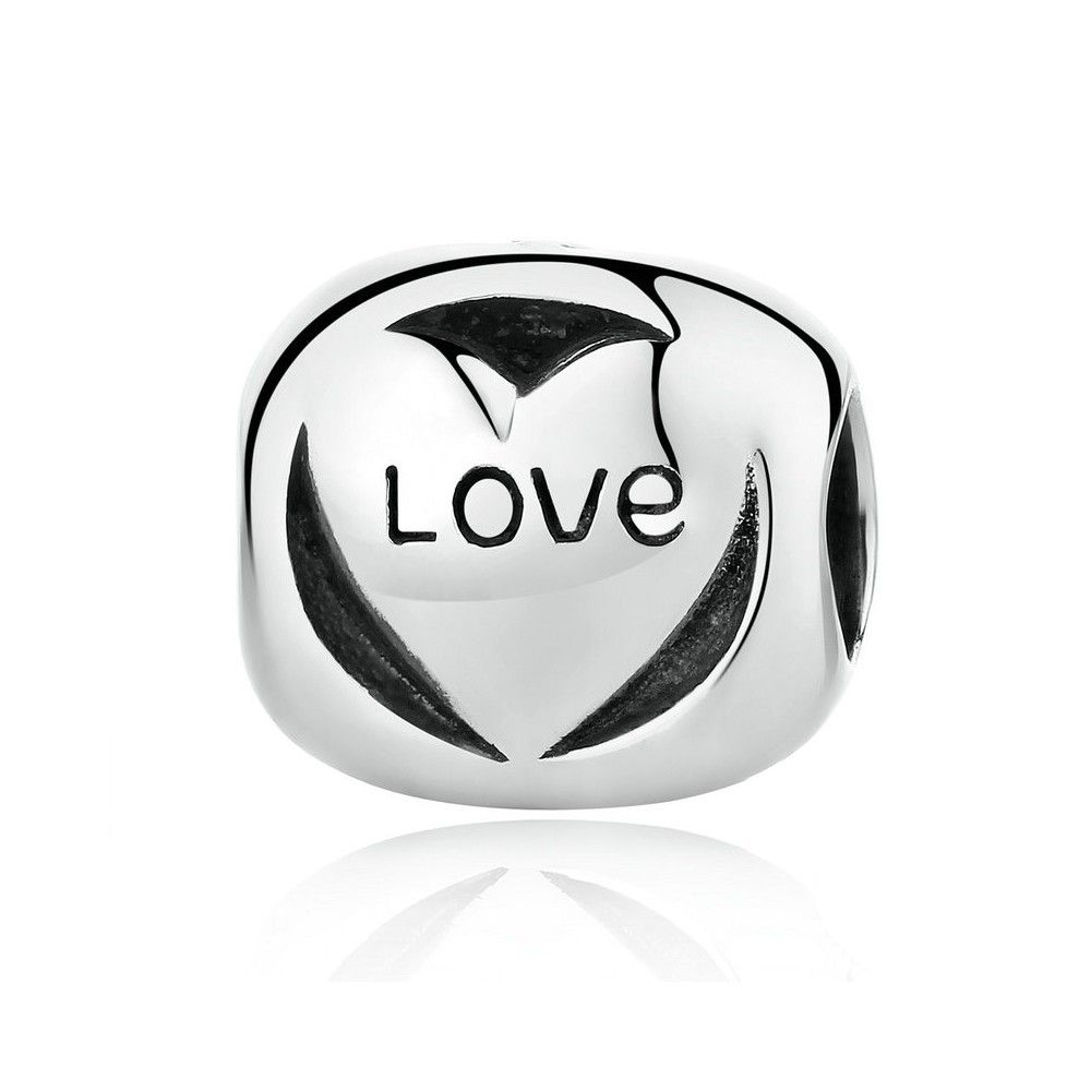 Sterling silver charm Love forever