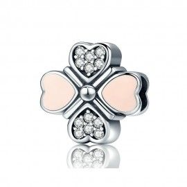 Sterling silver charm Petals of love