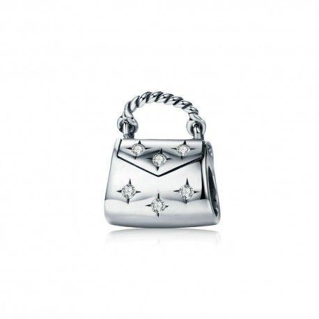 Zilveren bedel Handtas