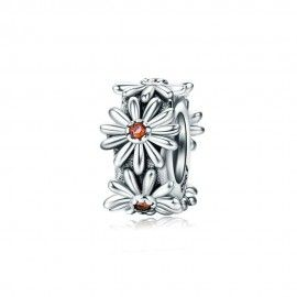 Sterling silver stopper Sparkling daisy