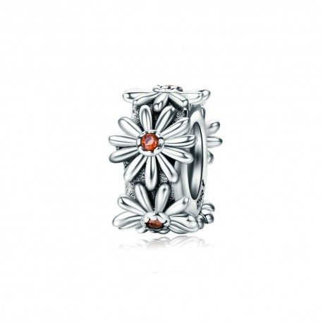 Sterling silver spacer Sparkling daisy