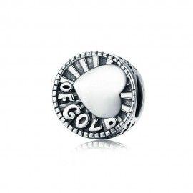 Sterling Silber Charm Herz aus Gold