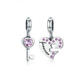 Sterling Silber Charm-Anhänger Schlüssel zu meinem Herzen
