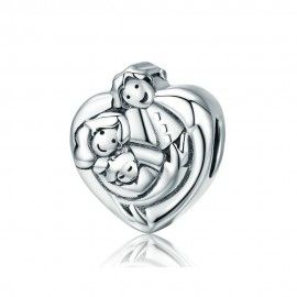 Charm in argento Dolce famiglia