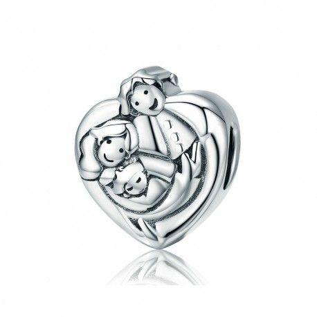 Sterling silver charm Sweet family