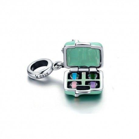 Sterling silver pendant charm Macaron candy box