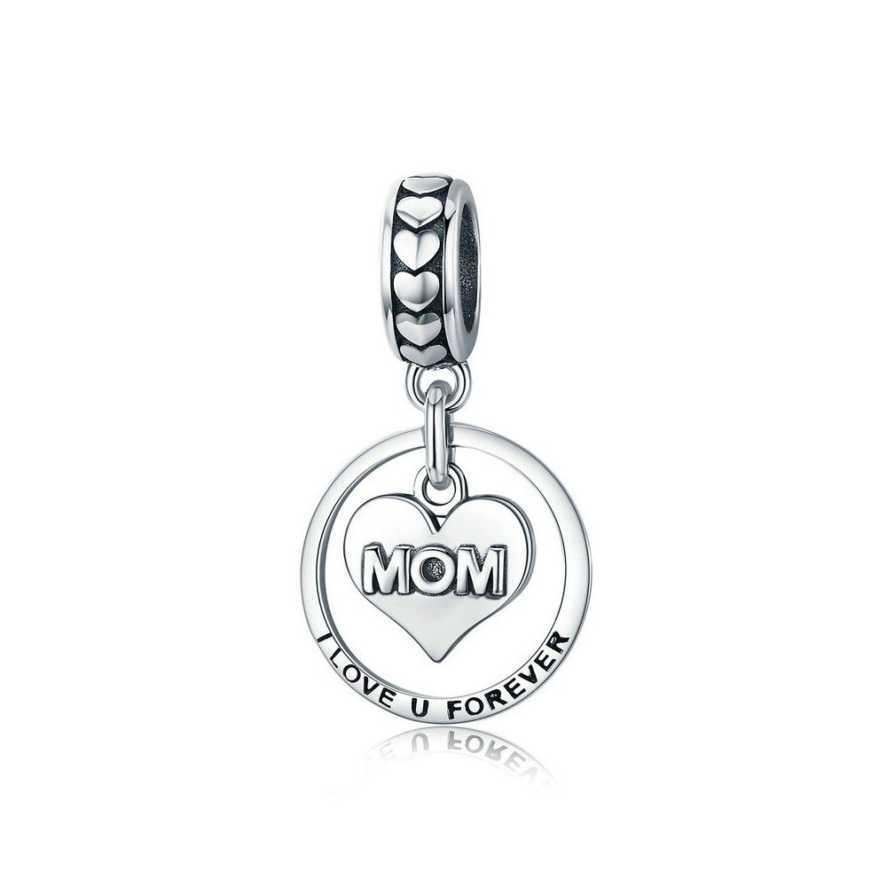 45d7a9f2c Sterling Silver Pendant Charm Mom I Love You Forever Mijn Bedels Fo
