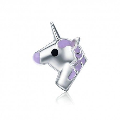 Sterling silver charm Lilac unicorn