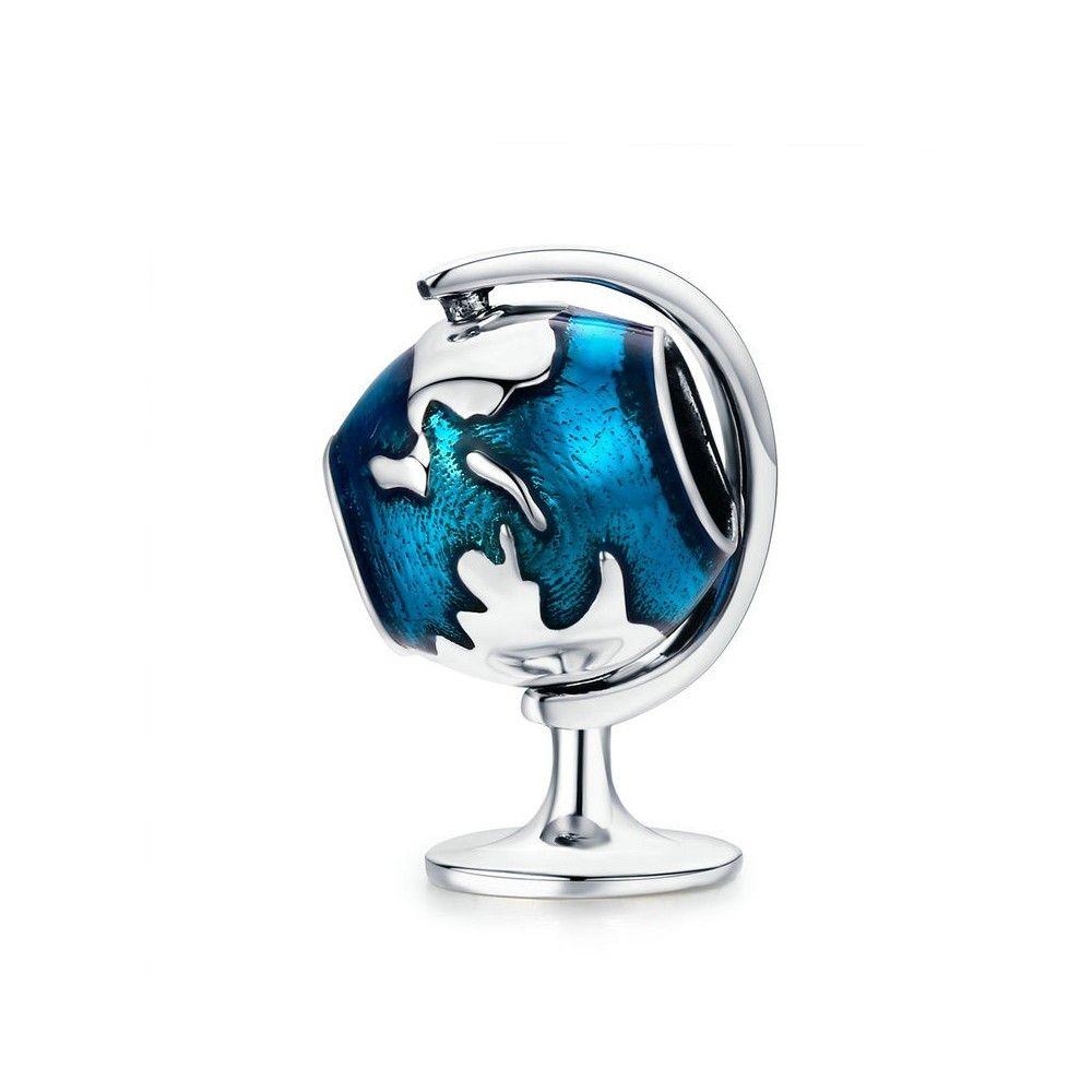 Sterling silver charm Globe