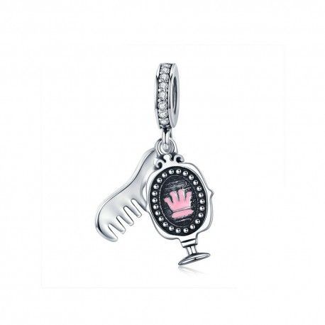 Sterling silver pendant charm Dressing mirror