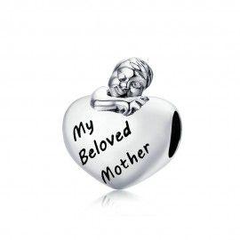 Charm en plata de Ley Mi madre querida