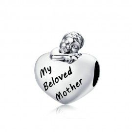 Sterling silver charm My beloved mother
