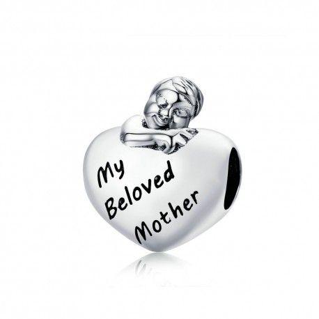 Charm en argent Ma mère bien-aimée