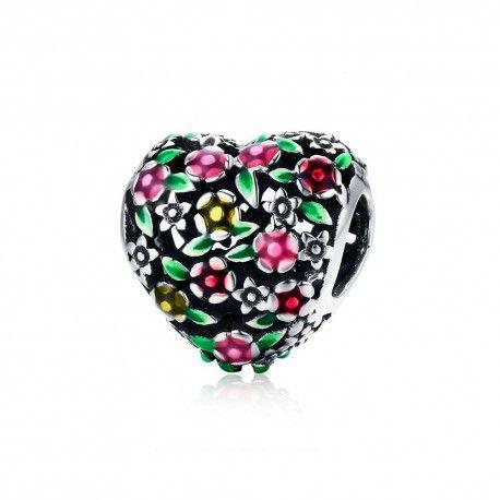 charm cuore in fiore pandora