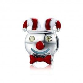 Sterling silver charm Circus clown