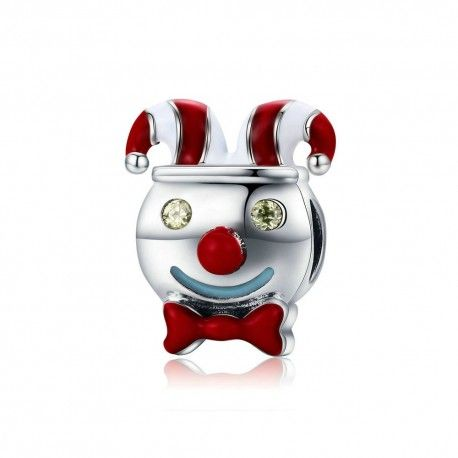 Zilveren bedel Circus clown