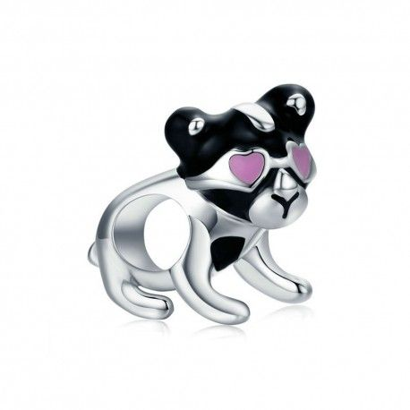 Sterling silver charm Naughty puppy