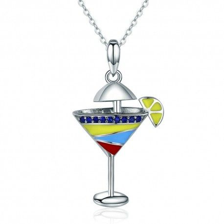 c52ac6042 Sterling silver pendant charm Summer drink-Mijn bedels-for your Pan...