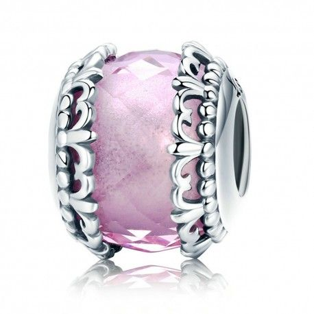 a884dd47a0d Sterling Silver Charm Pink Iris Mijn Bedels For Your Pandora Or Cha