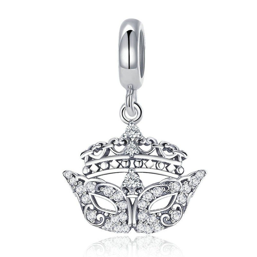 Sterling silver pendant charm Gorgeous mask