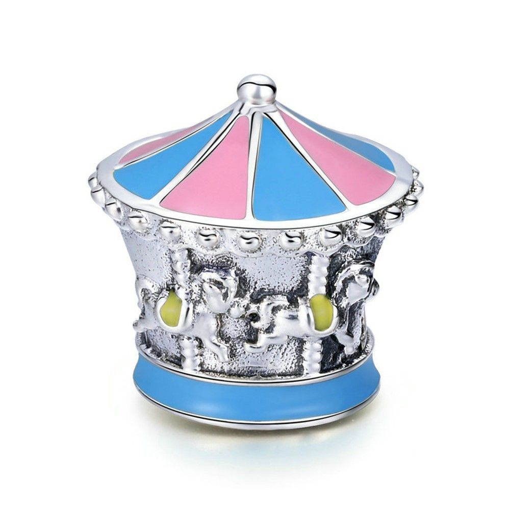 Sterling silver charm Merry-go-round
