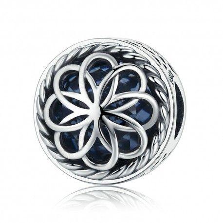 Sterling silver charm Summer flower