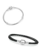 Trendy Leder, Silber und versilberte Armbänder für Pandora, Tedora, Trollbeads und alle anderen Charms!