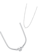 Collane in argento, argento placcato e in acciaio inossidabile, adatte per Pandora, Tedora, Trollbeads e altri marche di charms.