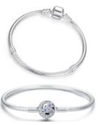 Pulseras de plata de primera ley, adecuadas con charms y colgantes Pandora, Trollbeads y demás marcas!